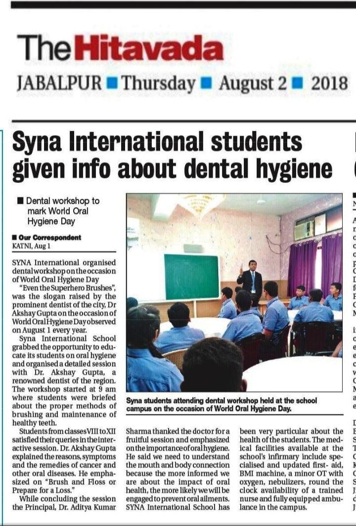 dental workshop  u2013 syna international school  katni