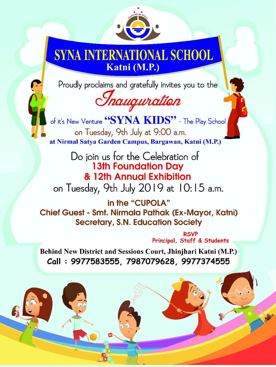 12th annual exhibition  u2013 syna international school  katni